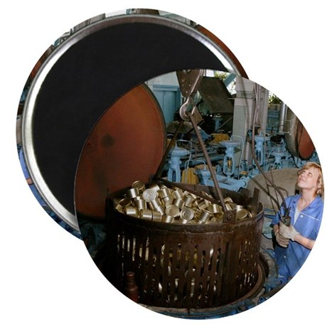 Sterilising cans at a fish cannery Magnet