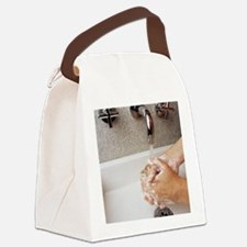 Cleaning hands Canvas Lunch Bag