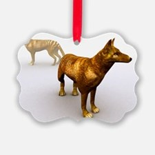 Tasmanian wolf, computer artwork Ornament