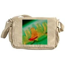 Collection of male condoms Messenger Bag