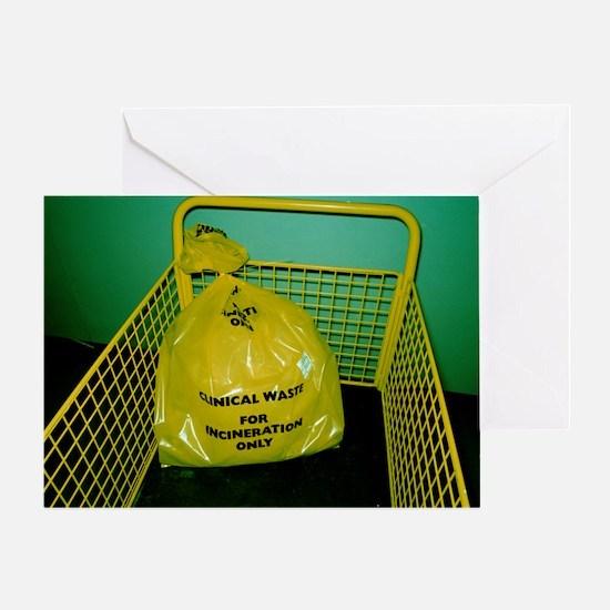 Clincal waste disposal Greeting Card