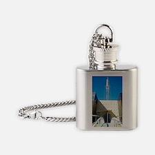 Telecommunications mast Flask Necklace