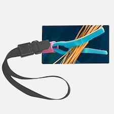 Coloured SEM of endoscopy scisso Luggage Tag