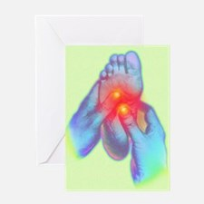Computer artwork of reflexologist ma Greeting Card