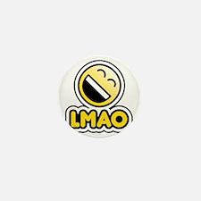 lmao bbm smiley Mini Button