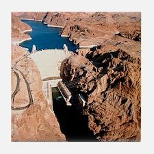 The Hoover Dam, Colorado River Tile Coaster