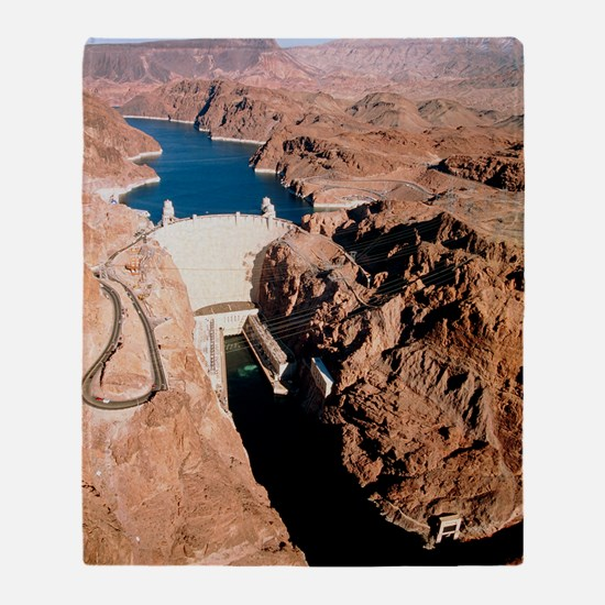 The Hoover Dam, Colorado River Throw Blanket