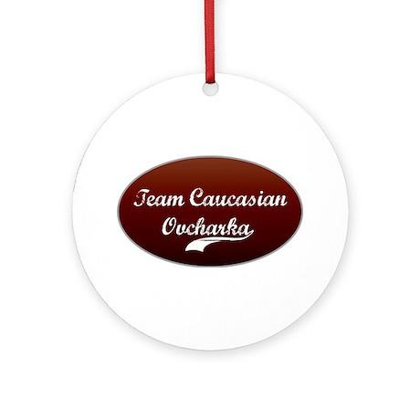 Team Caucasian Ornament (Round)