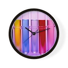 Test tubes Wall Clock
