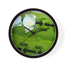 Contraceptive pill Wall Clock