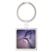 Crystal healing Square Keychain