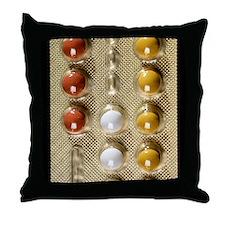 Contraceptive pills Throw Pillow