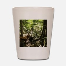 Tasmanian wolf in forest Shot Glass