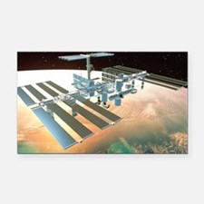 The International Space Stati Rectangle Car Magnet