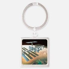 The International Space Station Square Keychain