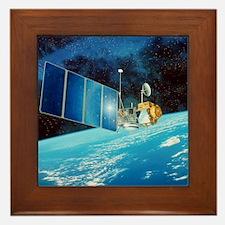 TOPEX/Poseidon satellite Framed Tile