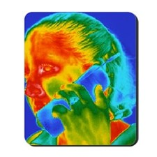 Telephone thermogram Mousepad