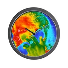 Telephone thermogram Wall Clock
