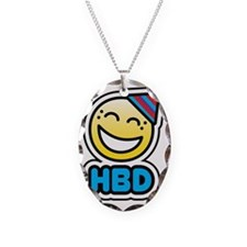 hbd bbm smiley  Necklace