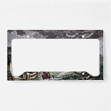 Tornado, historical artwork License Plate Holder