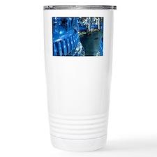 Technicians at vats in drug pro Travel Mug