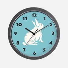 Bunny Wall Clock: Thoughtful Bunny Rabbit