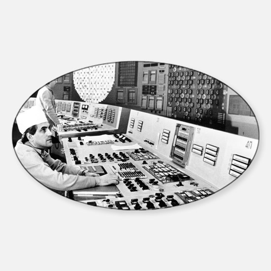 Technicians in the control room at  Sticker (Oval)