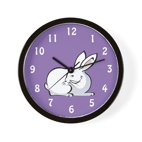 Bunny Wall Clock: White Bunny Rabbit