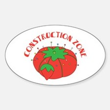 Construction Zone Decal