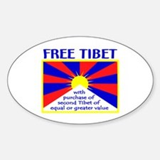 FREE TIBET* Oval Decal