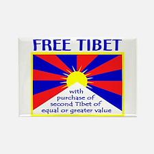 FREE TIBET* Rectangle Magnet