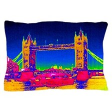Tower Bridge, UK, thermogram Pillow Case
