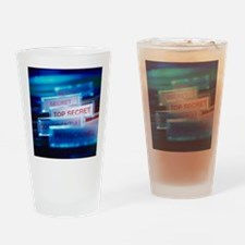 Top secret paperwork Drinking Glass