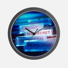 Top secret paperwork Wall Clock
