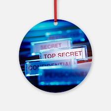 Top secret paperwork Round Ornament