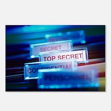 Top secret paperwork Postcards (Package of 8)