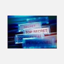 Top secret paperwork Rectangle Magnet