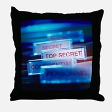 Top secret paperwork Throw Pillow