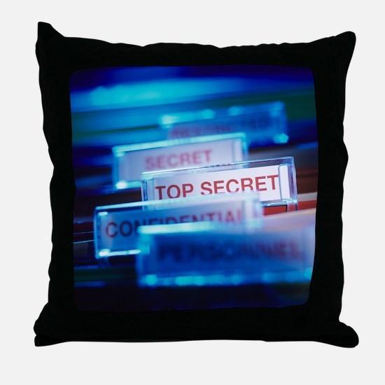 Top secret paperwork Throw Pillow