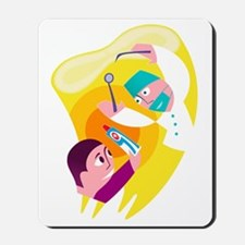 Dentist and patient Mousepad