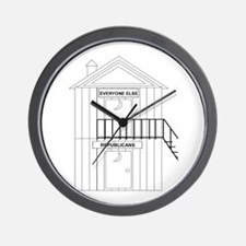 GOP's 2-Story Outhouse Wall Clock