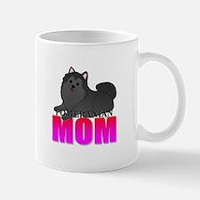 Black Pomeranian Mom Mug