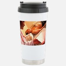 Doctor examines a male patient' Travel Mug