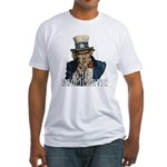 Vote Democratic II - Uncle Sa Fitted T-Shirt