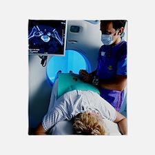 CT scanning Throw Blanket