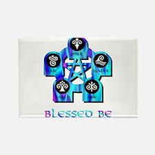 Blessed Be Aqua Blue Rectangle Magnet