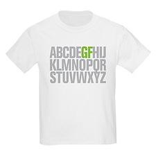 GF Alphabet  Kids T-Shirt