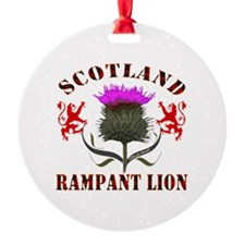 Scotland Tartan Rampant Lion Thistl Ornament