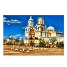 San Xavier MIssion - Whit Postcards (Package of 8)