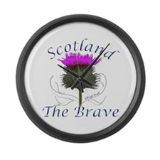 Scotland The Brave Thistle Design Large Wall Clock